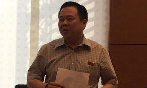 Đại biểu Nguyễn Hoàng Anh phát biểu góp ý sửa Luật Quản lý nợ công