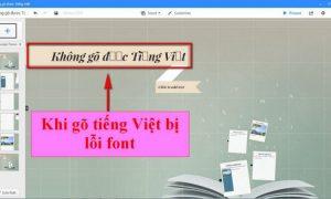 Khắc phục lỗi font chữ khi gõ tiếng Việt trong Template Prezi