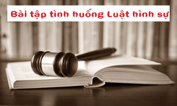 Tổng hợp các bài tập tình huống luật hình sự