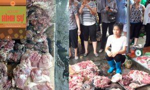 Đã khởi tố vụ án ném dầu luyn vào hàng thịt bán phá giá