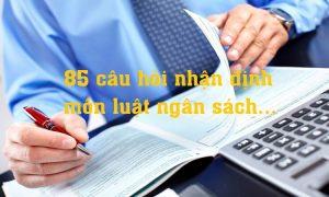 85 câu hỏi nhận định môn luật ngân sách có đáp án
