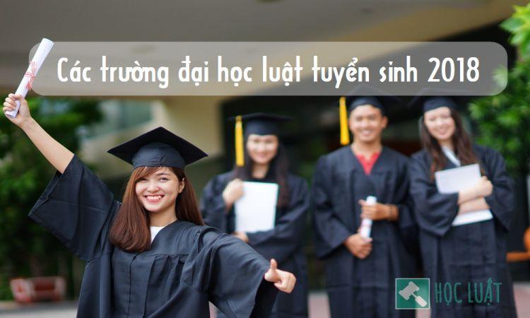 Các trường đại học luật tuyển sinh 2018
