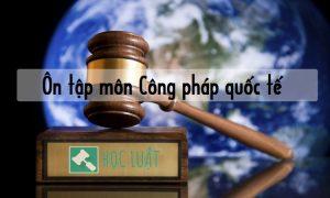 Câu hỏi ôn tập môn Công pháp quốc tế