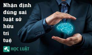 Đề thi trắc nghiệm môn luật sở hữu trí tuệ