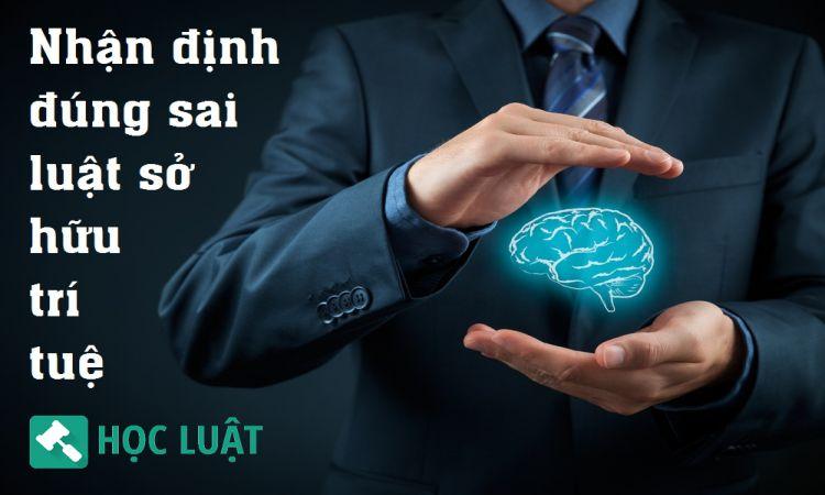 Nhận định đúng sai luật sở hữu trí tuệ