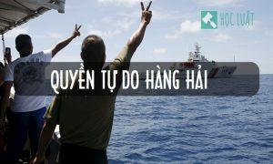 So sánh quyền qua lại vô hại và quyền tự do hàng hải