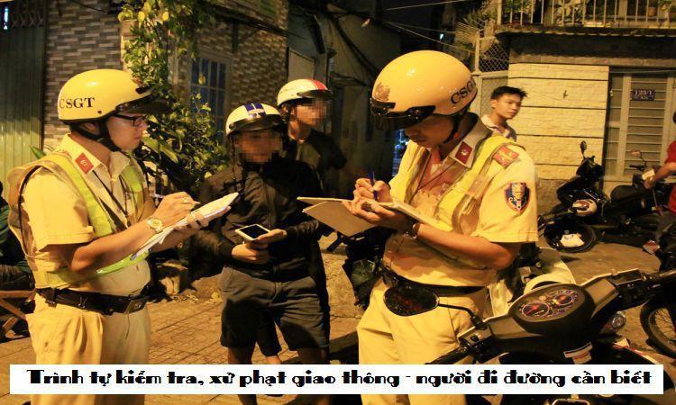 Trình tự kiểm tra, xử phạt giao thông - người đi đường cần biết
