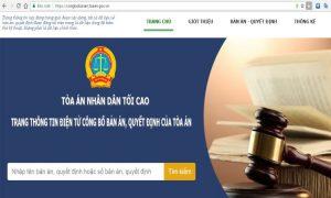 Tòa án ra mắt trang thông tin điện tử công bố bản án, quyết định