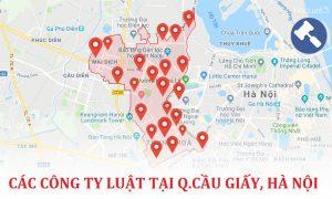 Danh sách các công ty luật, văn phòng luật sư tại quận Cầu Giấy, TP. Hà Nội
