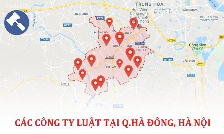 Các công ty luật tại quận Hà Đông, TP. Hà Nội