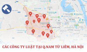 Các công ty luật tại quận Nam Từ Liêm, TP. Hà Nội