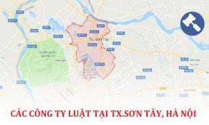 Các công ty luật tại quận Sơn Tây, TP. Hà Nội