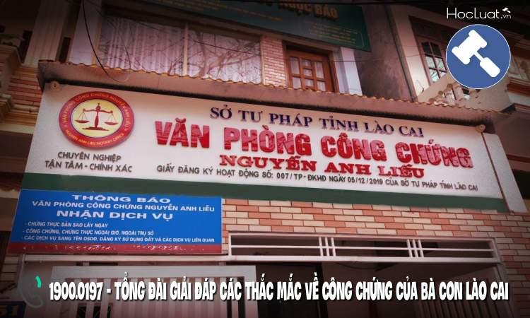 Danh sách văn phòng công chứng tại Lào Cai