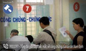 Danh sách các văn phòng công chứng tại Nam Định