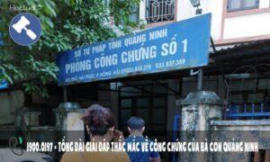 Văn phòng công chứng Quảng Ninh