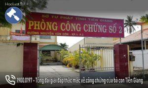 Danh sách các văn phòng công chứng tại Tiền Giang