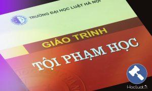 Giáo trình tội phạm học – Đại học luật Hà Nội