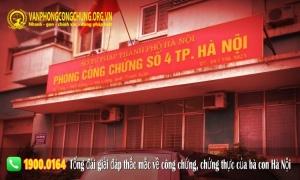 Danh sách văn phòng công chứng tại Hà Nội