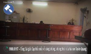 Danh sách văn phòng công chứng tại Tuyên Quang