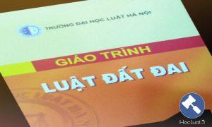 Giáo trình Luật Đất đai - Đại học Luật Hà Nội