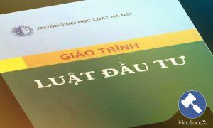 Download Ebook giáo trình Luật Đầu tư – Đại học Luật Hà Nội