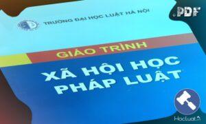 Download Ebook giáo trình Xã hội học pháp luật – Đại học Luật Hà Nội