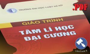 Download Ebook giáo trình Tâm lý học đại cương – Đại học Luật Hà Nội